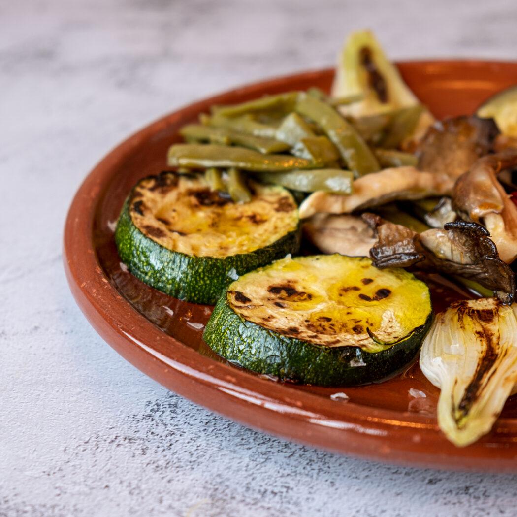 Parillada de Verduras con AOVE 100% Picual.